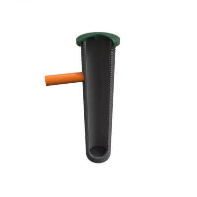 Колодец для насоса с композитной крышкой под камень и резиновой муфтой 110 мм